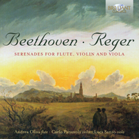 Beethoven, Reger: Serenades for Flute, Violin and Viola