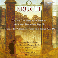 Bruch: Double Concerto for Clarinet, Viola and Orchestra Op.88, 8 Pieces for Clarinet, Viola and Piano Op.83