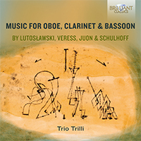 Music for Oboe, Clarinet & Bassoon by Lutoslawski, Veress, Juon & Schulhoff