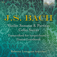 J.S. Bach: Violin Sonatas & Partitas, Cello Suites transcribed for harpsichord by Gustav Leonhardt