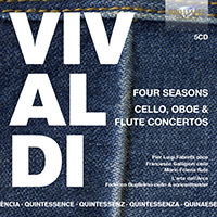 Quintessence Vivaldi: Four Seasons, Cello, Oboe & Flute Concertos