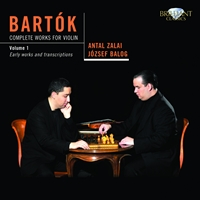 Bartok: Complete Works for Violin Vol. 1